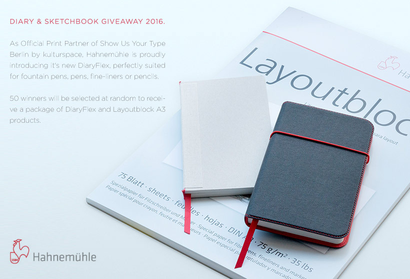 Hahnemühle DIARY & SKETCHBOOK GIVEAWAY 2016.